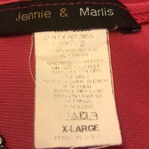 Jennie & Marlis Tops - Dark pink tank